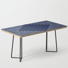 Geo / Navy Coffee Table