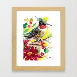 Christmas hummingbird 2 Framed Art Print