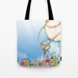 Love Baseball Tote Bag