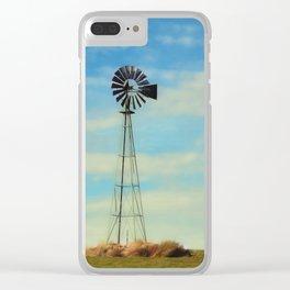 Farm Windmill Clear iPhone Case