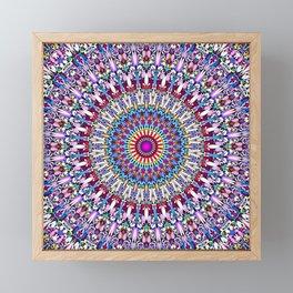 Fantasy Flower Garden Mandala Framed Mini Art Print