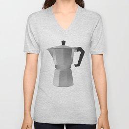 Classic Bialetti Coffee Maker Unisex V-Neck