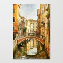 On a Venetian Canal Canvas Print