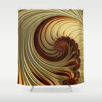 milk Shower Curtains featuring Milk Chocolate by Steve Purnell