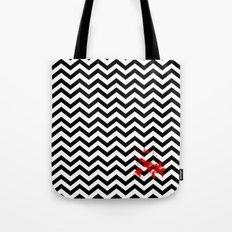 Black Lodge Dreams (Blood On The Red Room Floor) Tote Bag