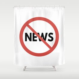 Toxic News Shower Curtain
