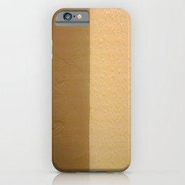 Imperfect Smooth VS Orange Peel Textures Minimalism Earth Tone Art - Corbin Henry iPhone Case