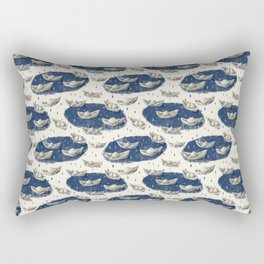 Paper boats in puddles in the rain. Rectangular Pillow