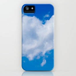 #Love is in the #Air a #cloud is #heart iPhone Case