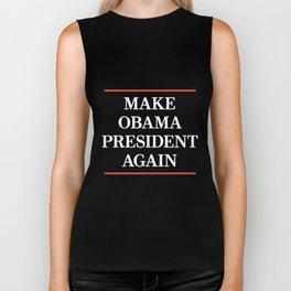 make obama president again american t-shirts Biker Tank