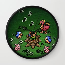 Flute Boy Wall Clock