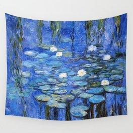 waterlilies a la Monet Wall Tapestry