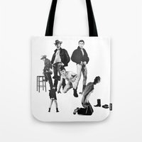 leather Tote Bags featuring Leather by vooduude