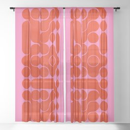 Abstract mid-century shapes no 6 Sheer Curtain