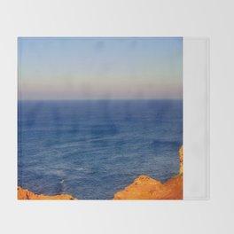 Beyond the blue Horizon Throw Blanket