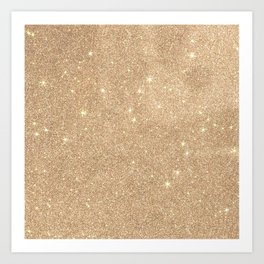 Gold Glitter Chic Glamorous Sparkles Art Print