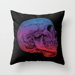 Rainbow Skull Joy Throw Pillow