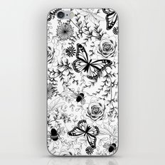 Butterflies And Bees iPhone & iPod Skin