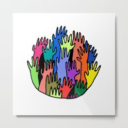 Everybody's Reaching Metal Print