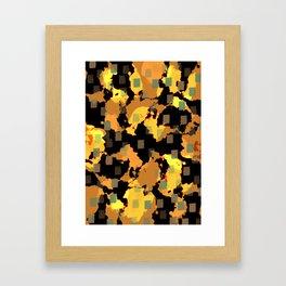 27 blue dots Framed Art Print