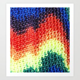 Crochet Close-up Art Print
