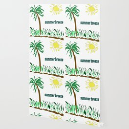 summer breeze minimal sketch Wallpaper