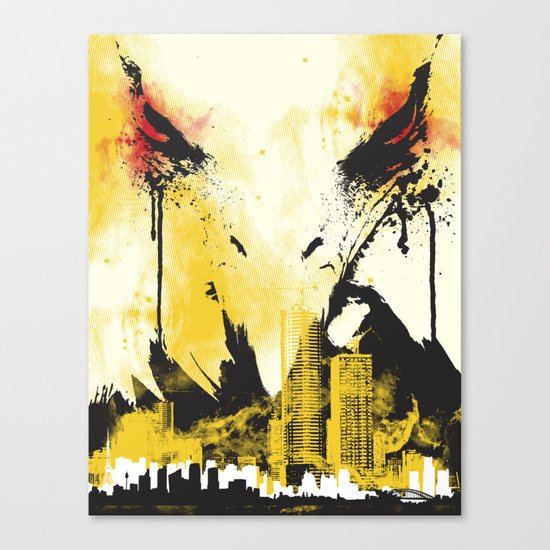 Eagle Eye Watching Canvas Print