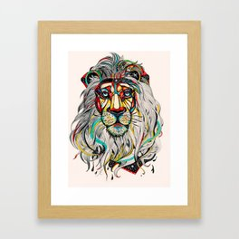 Lion. Framed Art Print