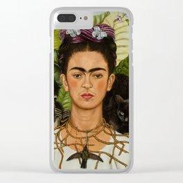 Frida Kahlo Painting I Clear iPhone Case