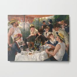 Luncheon of the Boating Party by Renoir Metal Print