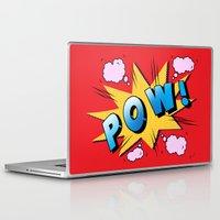 superheroes Laptop & iPad Skins featuring superheroes by mark ashkenazi