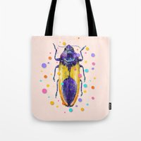 insect Tote Bags featuring INSECT IX by dogooder