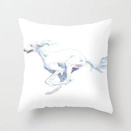 The Completely White Saluki  Throw Pillow
