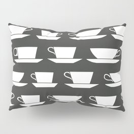 Pattern of Coffee and Tea Cups Pillow Sham