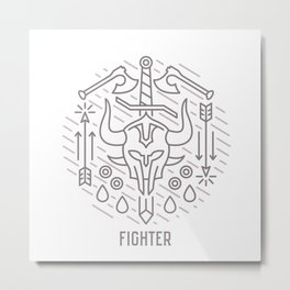 Fighter Emblem Metal Print