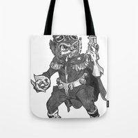 bucky Tote Bags featuring Bucky O'Hare by Hartless