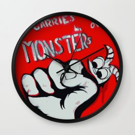 Everyone Carries Their Own Monsters Wall Clock