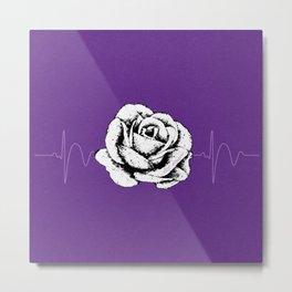 Purple Rose Cystic Fibrosis Month Fundraiser Design Metal Print
