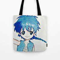 aladdin Tote Bags featuring Anime Aladdin by Ruby_Dag