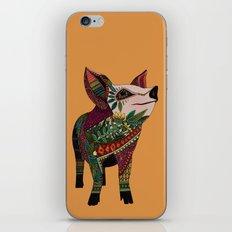 pig love amber iPhone & iPod Skin