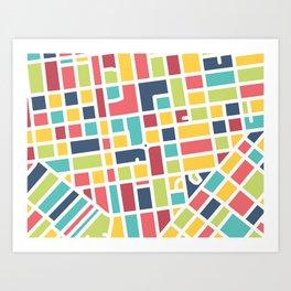 Lancaster, PA Block Map Art Print