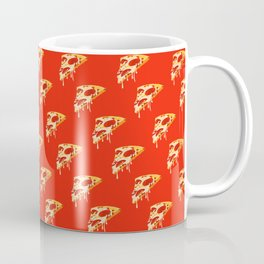 Red melty pizza slice pattern, pizza time Coffee Mug