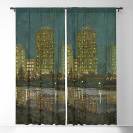 Central Park and Plaza Hotel, NY, NY by William Anderson Coffin Blackout Curtain