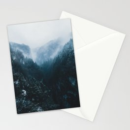 Foggy Forest Mountain Valley - Landscape Photography Stationery Cards