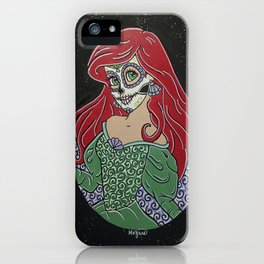 Ariel Sugar Skull iPhone Case