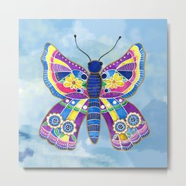 Butterfly I on a Summer Day Metal Print