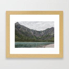 Avalanche Lake No. 3 - Glacier NP Framed Art Print