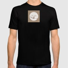 Scots Pine Paper Bag Sepia Black MEDIUM Mens Fitted Tee