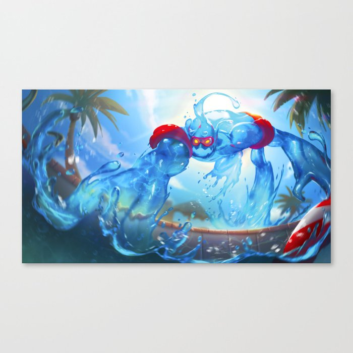 Pool Party Zac Canvas Print By Gisalmeida Society6