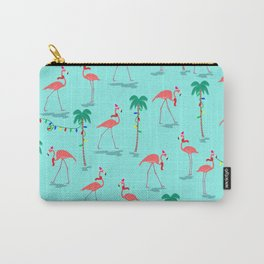 Christmas Flamingo Pattern Carry-All Pouch